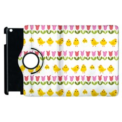 Easter - chick and tulips Apple iPad 3/4 Flip 360 Case