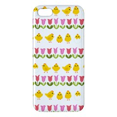 Easter - chick and tulips Apple iPhone 5 Premium Hardshell Case