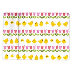 Easter - chick and tulips Samsung Galaxy Tab 10.1  P7500 Flip Case