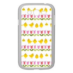 Easter - chick and tulips Samsung Galaxy Grand DUOS I9082 Case (White)