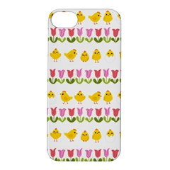 Easter - chick and tulips Apple iPhone 5S/ SE Hardshell Case