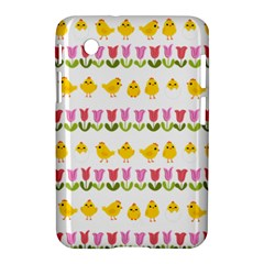 Easter - chick and tulips Samsung Galaxy Tab 2 (7 ) P3100 Hardshell Case