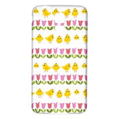 Easter - chick and tulips Samsung Galaxy S5 Back Case (White)