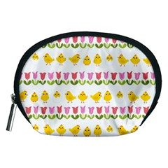 Easter - chick and tulips Accessory Pouches (Medium)