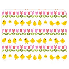 Easter   Chick And Tulips Double Sided Flano Blanket (medium)