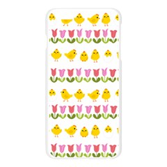 Easter - chick and tulips Apple Seamless iPhone 6 Plus/6S Plus Case (Transparent)