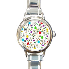 Easter lamb Round Italian Charm Watch