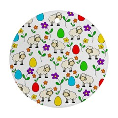 Easter lamb Ornament (Round)