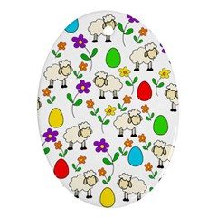 Easter lamb Ornament (Oval)