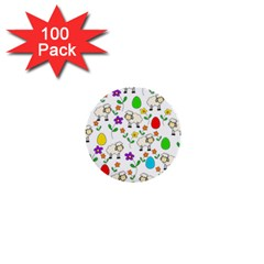 Easter lamb 1  Mini Buttons (100 pack)