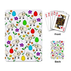 Easter lamb Playing Card