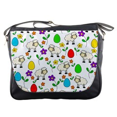 Easter lamb Messenger Bags