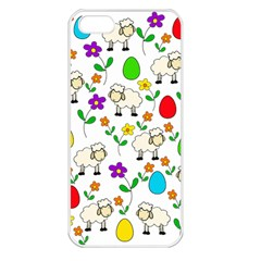 Easter lamb Apple iPhone 5 Seamless Case (White)