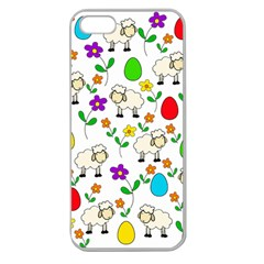 Easter lamb Apple Seamless iPhone 5 Case (Clear)