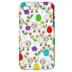 Easter lamb Apple iPhone 4/4S Hardshell Case (PC+Silicone)