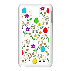 Easter lamb Samsung Galaxy Note 3 N9005 Case (White)