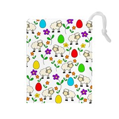 Easter lamb Drawstring Pouches (Large)