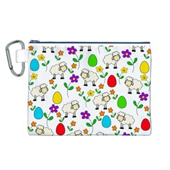 Easter lamb Canvas Cosmetic Bag (L)