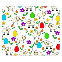 Easter lamb Double Sided Flano Blanket (Small)
