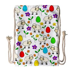 Easter lamb Drawstring Bag (Large)
