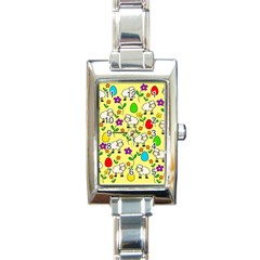 Easter lamb Rectangle Italian Charm Watch