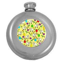 Easter lamb Round Hip Flask (5 oz)