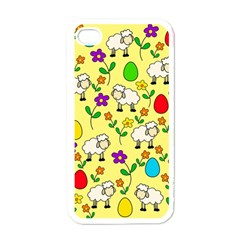 Easter lamb Apple iPhone 4 Case (White)