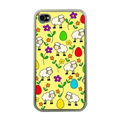 Easter lamb Apple iPhone 4 Case (Clear)