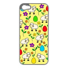 Easter lamb Apple iPhone 5 Case (Silver)