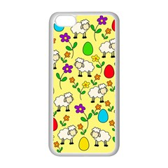Easter lamb Apple iPhone 5C Seamless Case (White)