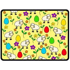 Easter lamb Double Sided Fleece Blanket (Large)