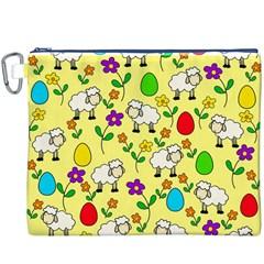 Easter lamb Canvas Cosmetic Bag (XXXL)