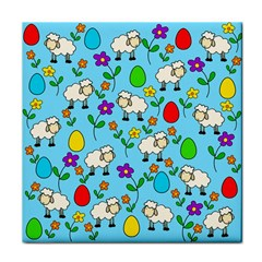 Easter lamb Tile Coasters