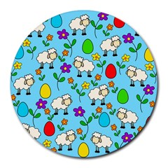 Easter lamb Round Mousepads