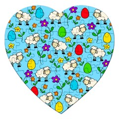 Easter lamb Jigsaw Puzzle (Heart)