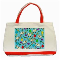 Easter lamb Classic Tote Bag (Red)