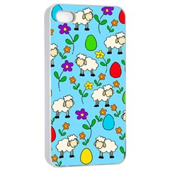 Easter lamb Apple iPhone 4/4s Seamless Case (White)