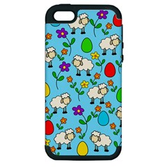 Easter lamb Apple iPhone 5 Hardshell Case (PC+Silicone)
