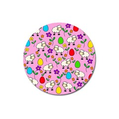 Easter lamb Magnet 3  (Round)