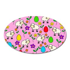 Easter lamb Oval Magnet