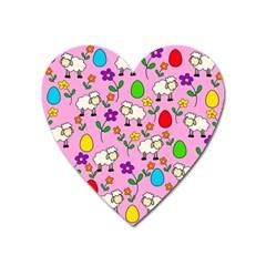 Easter lamb Heart Magnet