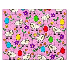 Easter lamb Rectangular Jigsaw Puzzl
