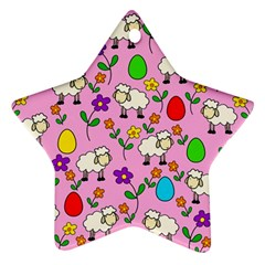 Easter lamb Star Ornament (Two Sides)