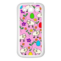 Easter lamb Samsung Galaxy S3 Back Case (White)