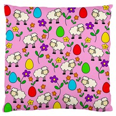 Easter lamb Large Flano Cushion Case (One Side)