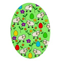 Easter lamb Ornament (Oval)