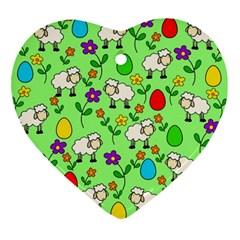 Easter lamb Ornament (Heart)