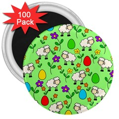 Easter lamb 3  Magnets (100 pack)