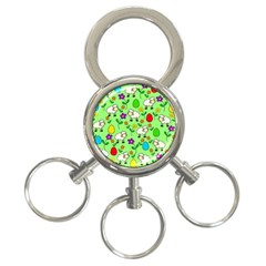 Easter lamb 3-Ring Key Chains