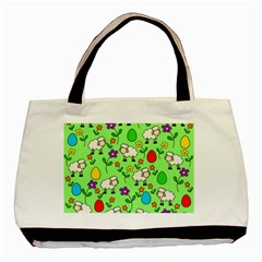 Easter lamb Basic Tote Bag (Two Sides)